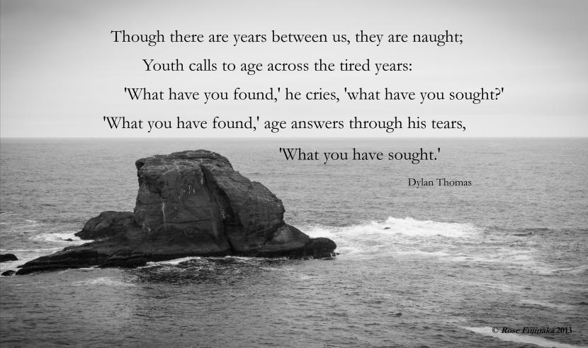 Dylan Thomas Quote Youth Calls to Age