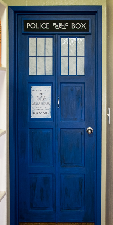 DIY TARDIS bedroom door