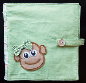 busy book felt monkey cover