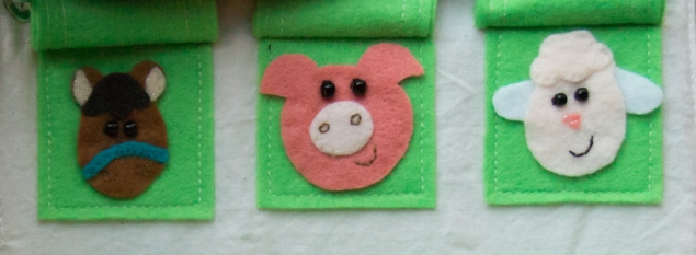 busy book page 7b felt animals