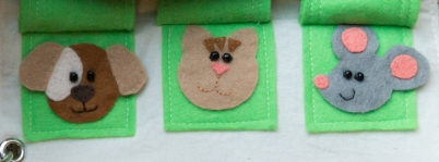 busy book page 7d felt animals