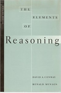 elements of reasoning conway munson 2nd edition wadsworth 1997